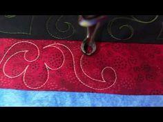 Cha Cha Cha flower. Border design. Free motion longarm quilting Gammill Vision - YouTube