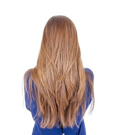 stufenschnitt lange glatte haare