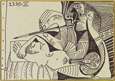 Pablo Picasso. Le Peintre Et Son Modèle; 1970