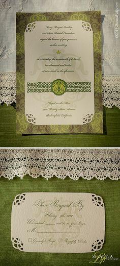 Irish Wedding Invitation & Response Card   Flickr - Photo Sharing!