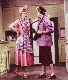 Lucy and Ethel. Ethel was so gullible. Fell for Lucy's madness every time