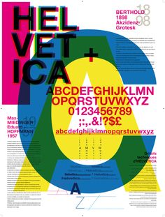 Typography - Helvetica by Ophélie Maurus, via Behance