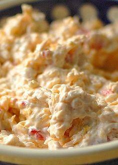 Pimento Cheese Dip Recipe shewearsmanyhats.com #cheese #pimento