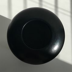 obj. 2.2 // redesigned and hand painted // black ceramic vessel