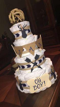 Oh deer diaper cake #diapercake