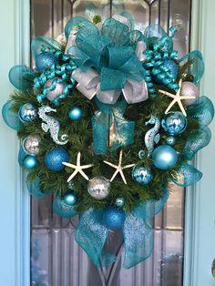 Stunning coastal wreath!                                                                                                                                                                                 More