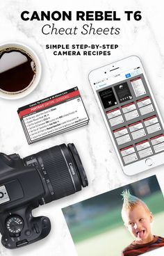 Simple step-by-step cheat sheets, to help you take better photos with your Canon Rebel T6. Check out my best camera settings for portraits, food, landscapes, nature and more!