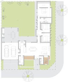 Casas: ideas, arquitectura e imágenes - architektur haus Best House Plans, Dream House Plans, Modern House Plans, Small House Plans, House Floor Plans, Tiny House Layout, House Layouts, L Shaped House Plans, Architectural Floor Plans