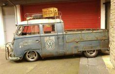 Rat look pickup. Bus Camper, Volkswagen Bus, Vw T1, Vw Doka, Kombi Pick Up, Vw Caravan, Combi T1, Vw Pickup, Hot Vw