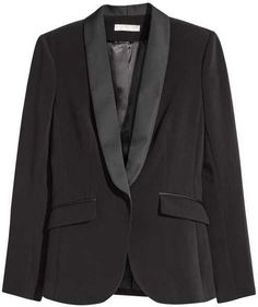 H&M - Tuxedo Blazer - Black - Ladies