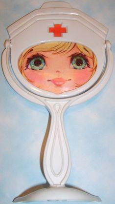 VINTAGE TOY ARCHIVE — DIME STORE: 1960s Little Miss Beauty NURSE Mirror...