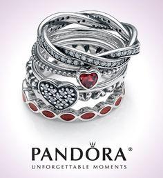 Pandora stacking rings More WOMEN'S JEWELRY http://amzn.to/2ljp5IH