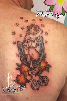 Pin-Up Girl Lucky Cat Tattoo | 's-Hertogenbosch