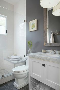 Bathroom Makeover Ideas On A Budget . 20 Beautiful Images Of Bathroom Makeover Ideas On A Budget for Bathroom Ideas. Cool 99 Small Master Bathroom Makeover Ideas On A Bud Bathroom Renos, Basement Bathroom, Bathroom Interior, Bathroom Remodeling, Bathroom Grey, Bathroom Cabinets, Modern Bathroom, Remodeling Ideas, Bathroom Mirrors
