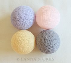 Sweet Lavender Pastel Cotton Ball Patio Party String Lights – Fairy, Wedding, Decor