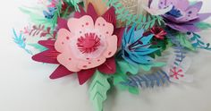 papercut flowers - lila poppins