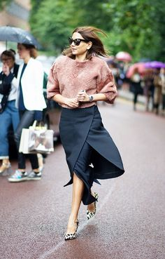 22+Fall+Outfit+Ideas+Built+Around+Our+Favorite+Skirts+via+@WhoWhatWear