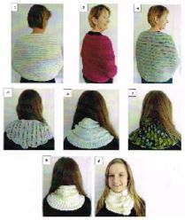 Cowls, Shawls and Snood knitting pattern