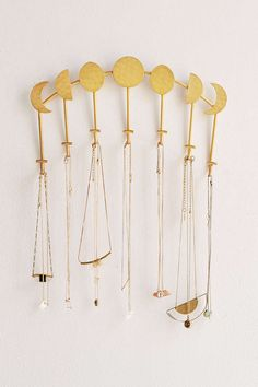 Magical Thinking Artemis Wall Mounted Necklace Holder // $24 // gold