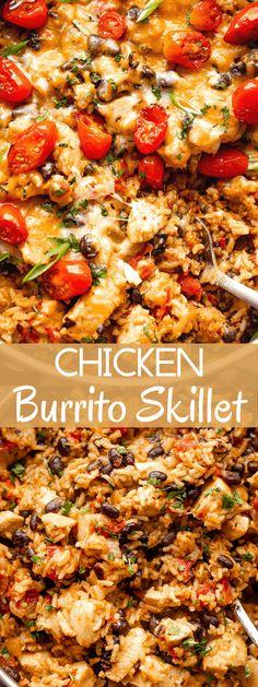 Easy Skillet Meals, Chicken Skillet Recipes, Easy Meals, Turkey Recipes, Easy Dinner Recipes, Weeknight Recipes, Dinner Ideas, Meal Ideas, Supper Ideas