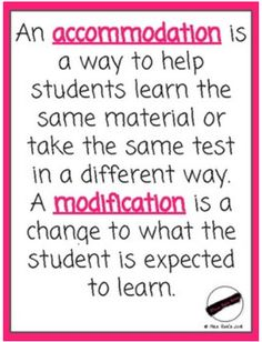 Accommodations vs Modifications FREEBIE Poster Reminder – Inclusive education Posters and Art Prints for Free Teaching Special Education, Student Learning, Kids Education, Physical Education, Special Education Quotes, Continuing Education, Inclusive Education, Graphisches Design, Learning Support