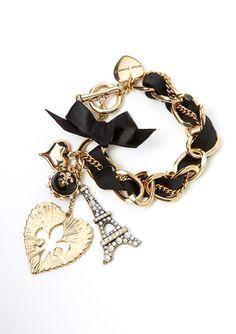 BETSEY JOHNSON Eiffel Tower Charm Bracelet