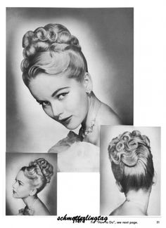 1950's HAIRSTYLES | 1950s Atomic Hairstyle Book Create 50s Long Hairstyles Ebay Design ...