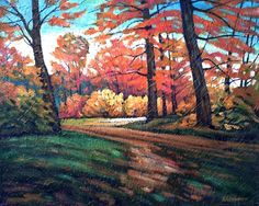 Artwork >> Bellemare Michel-André >> Autumn light in Mauricie