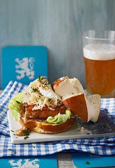Bayernburger, Burger mal anders mit Leberkäse und Sauerkraut