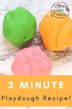 This easy playdough recipe for kids is no-cook and so easy that it only takes 3 minutes to make. You just need to add boiling water! It is nice and silky soft and lasts 6 months in an air tight container. Playdough Activities, Activities For Kids, Best Playdough Recipe, Play Doh, 6 Months, Kids Meals, Container, Good Things, Fruit