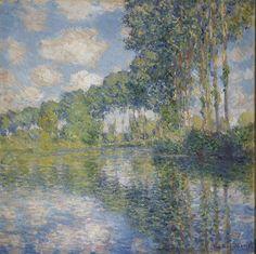 Claude Monet (Fr. 1840-1926), Peupliers sur les bords de l'Epte, 1891, huile sur toile, 81,8 x 81,3 cm, Edimbourg, National Gall...
