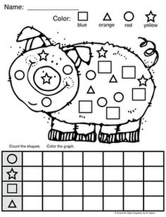 FREE: Piggy Shape Graph via Donna Glynn / Kinderglynn. 1 graphic organizer. Directions: Count the shapes and use your data to fill out the graph.
