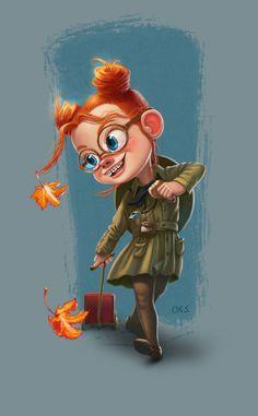 Girl Scout Margaret on Behance Girl Cartoon, Cute Cartoon, Cartoon Art, Children's Book Illustration, Character Illustration, Character Concept, Character Art, Cartoon Mignon, Dibujos Tumblr A Color