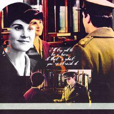"""""""I'll try not to be a hero if that's what you're afraid of"""" -Matthew Crawley"""