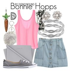 """""""Bonnie Hopps"""" by leslieakay ❤ liked on Polyvore featuring Topshop, Jewel Exclusive, Chicnova Fashion, Ross-Simons, MICHAEL Michael Kors, Converse, Thomas Sabo, MothersDay, disney and disneybound"""