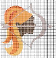 Borduurpatroon Sterrenbeeld Kruissteek *X-Stitch Pattern Zodiac ~Serie 2-12: Boogschutter 23-11/22-12 *Sagittarius~