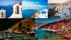 Santorin plus belle île au monde Grèce Cyclades plages paradisiaques mer turquoise mer Egée Fira village grec La Caldera Oia