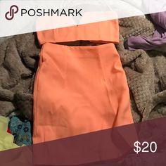 Crop top and midi skirt Beautiful coral set Sabo Skirt Skirts Midi