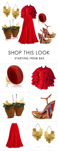 """""""PLAYIN'IN THE SAND"""" by myownflow ❤ liked on Polyvore featuring Charlotte Olympia, Dsquared2, Reem Acra and Hervé Van Der Straeten"""