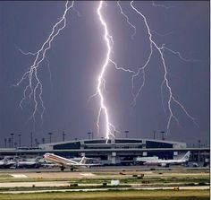 A lightning strike hitting the Dallas/Fort Worth Airport. (PHOTO/Submitted)