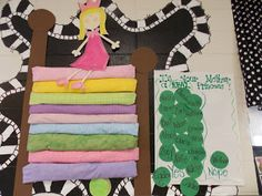 Glyph Girls: Peas Please? Fairy Tale Crafts, Fairy Tale Theme, Letter P Activities, Art Activities, Princess And The Pea, Real Princess, Fairy Tales Unit, Album Jeunesse, Fairy Land