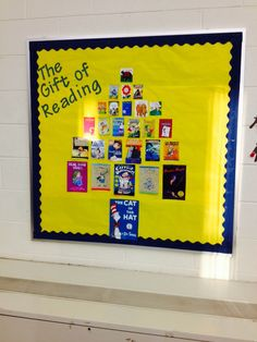 The librarian at one of my schools created this bulletin board. Such a cute idea!