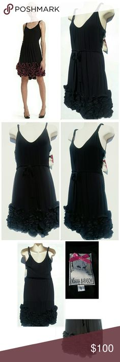 NWT! ANTHROPOLOGIE BLACK RUFFLE CHIFFON DRESS SZ S Yoana Baraschi for ANTHROPOLOGIE Black chiffon & ruffle hem. Cotton lining  Size Small  BUST 14in  Waist 17in Length 33 in BUY NOW OR BUNDLE AND SAVE Anthropologie Dresses Midi