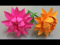 How to Make Beautiful Flower with Paper - Making Paper Flowers Step by Step - DIY Paper Flowers Crepe Paper Roses, How To Make Paper Flowers, Paper Flowers Craft, Paper Crafts Origami, Origami Flowers, Flower Crafts, Diy Paper, Flower Making Crafts, Papier Diy