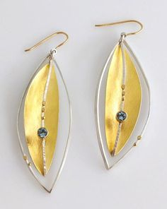 Silver Lake Earrings Gold & Silver Earrings Created by Sydney Lynch