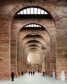 interior of the National Museum of Roman Art in Spain by Rafael Moneo via kellybehunstudio
