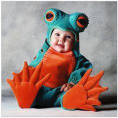Halloween costume for baby - exquisite Tom Arma Frog