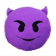 Purple Devil Emoji Pillow