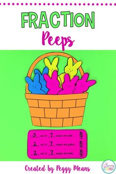 Are you looking for an engaging Spring Craftivity with educational value! Here it is! Your students will love interacting with fractions with this hands-on peep fraction craftifity! I have also included 2 Anchor Posters to use as you review/teach fractions. If your time is limited, I have included an quick print-and-make option.