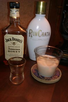 Need a new drink? Try a honey badger. Rumchata and Jack Daniels honey whiskey.